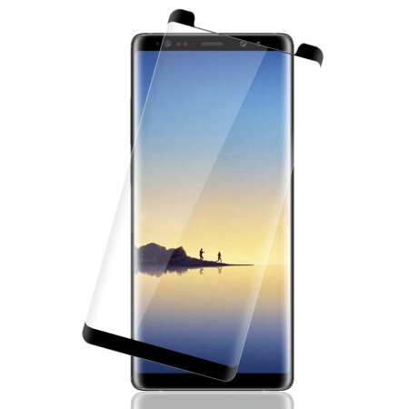 Note 8 Tempered Glass, Full Size 3D Curved Hard Tempered Glass Screen Protector Crack Saver for Samsung Galaxy Note-8 SM-N950