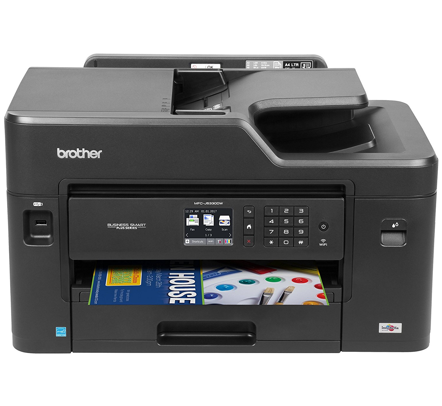 photograph relating to Inkjet Printable Vinyl Walmart known as Brother MFC-J5330DW All-inside of-One particular Coloration Inkjet Printer, Wi-fi Connectivity and Automated Duplex Printing