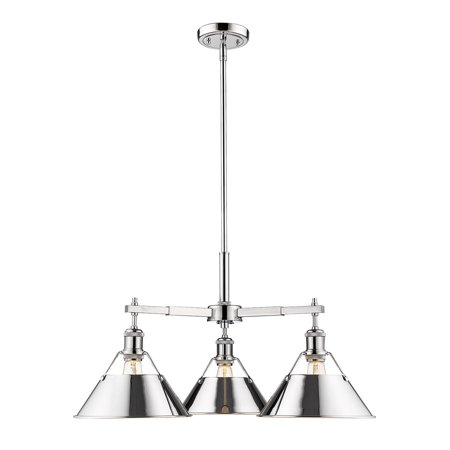 Orwell CH 3 Light Nook Chandelier in Chrome with Chrome Shade
