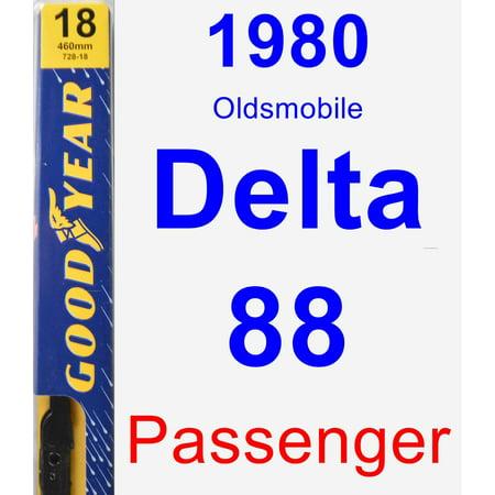 1980 Oldsmobile Delta 88 Passenger Wiper Blade - -
