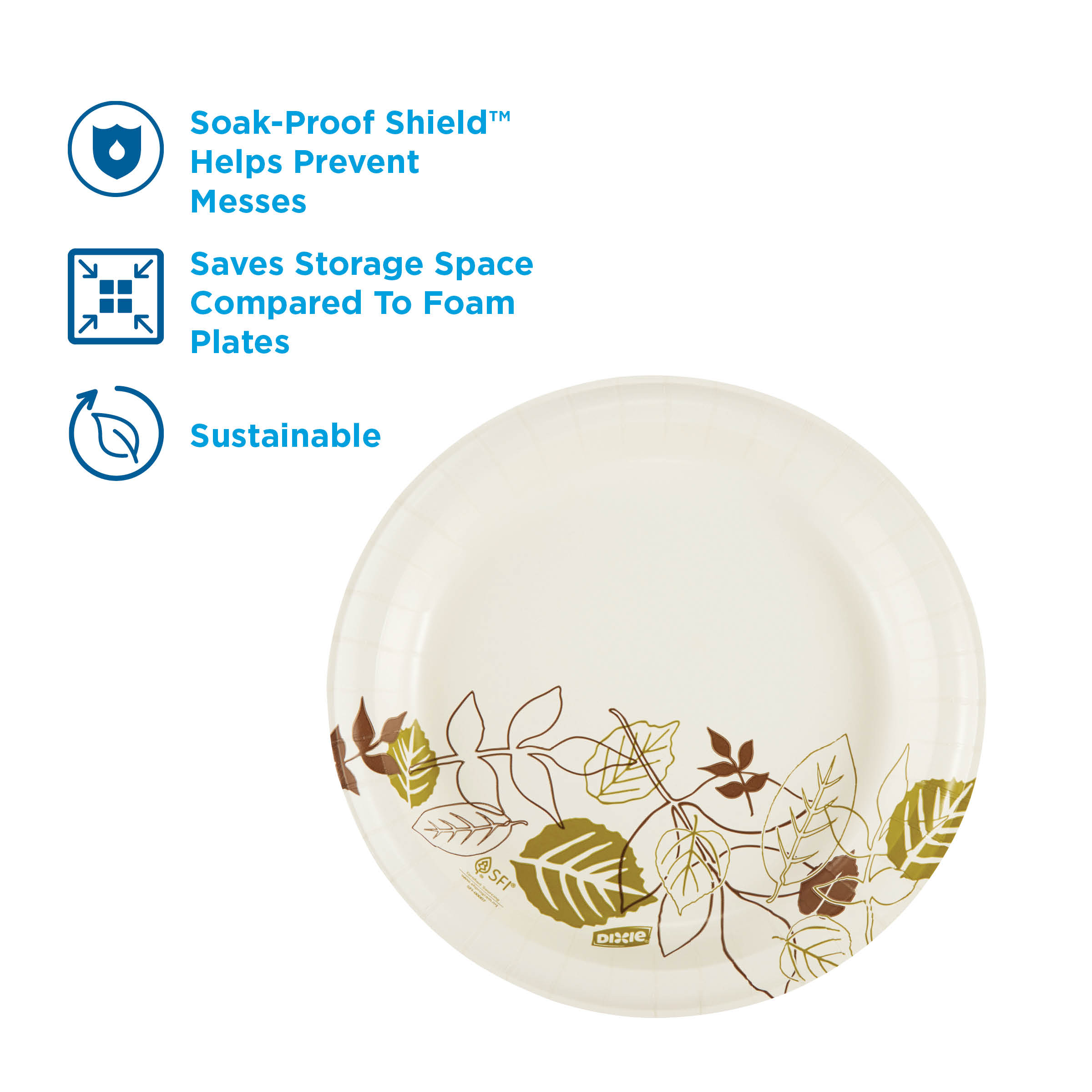 Pathways 500 Count Georgia-Pacific - 2 Pack Dixie Ultra 10Heavy-Weight Paper Plates by GP PRO SXP10PATH 125 Plates Per Pack, 4 Packs Per Case