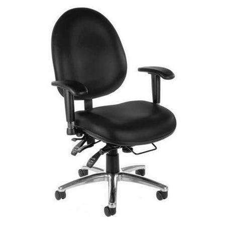 OFM INC 247-VAM-606 Desk Chair, Black, Vinyl G3343089