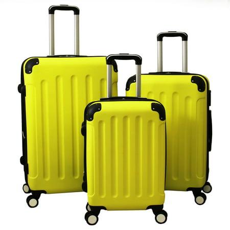 all seasons aria 3 piece combination lock hardside spinner luggage set walm. Black Bedroom Furniture Sets. Home Design Ideas