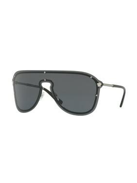 04e55fbab07e Product Image Versace Grey Rectangular Sunglasses