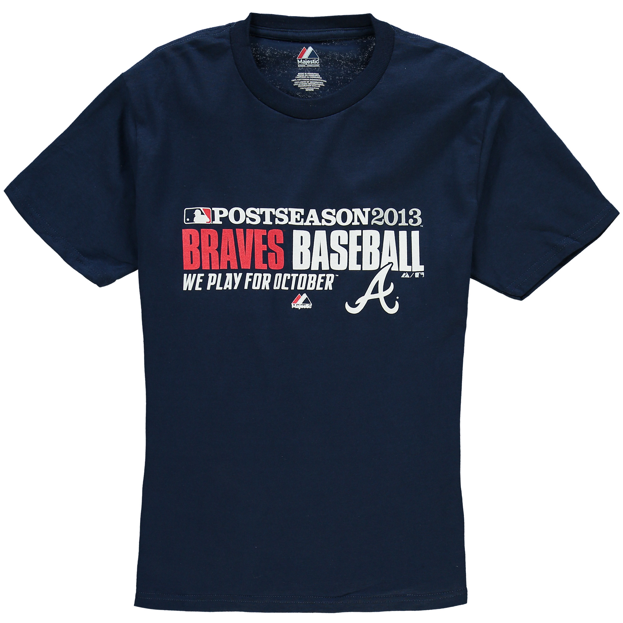 Atlanta Braves Majestic Youth Authentic Collection Team Favorite Playoff T-Shirt - Navy