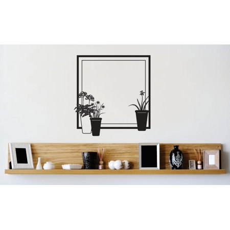 Do It Yourself Wall Decal Sticker Design Pieces Flower Pot Picture Frame 16x16