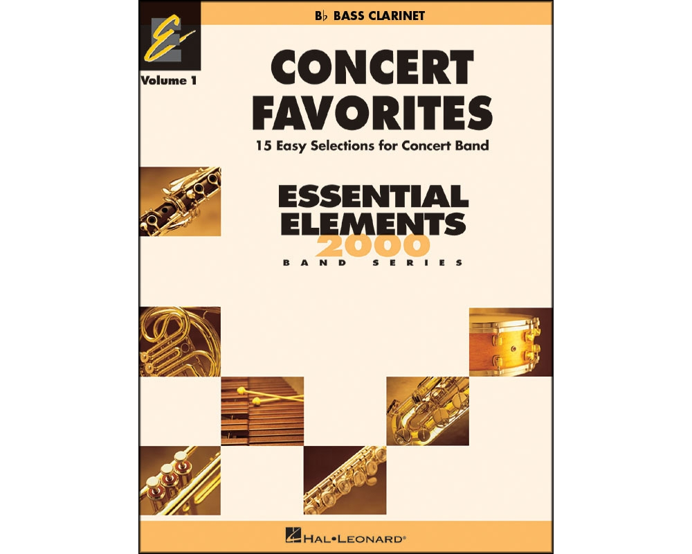 Hal Leonard Concert Favorites Vol1 Bb Bass Clarinet by