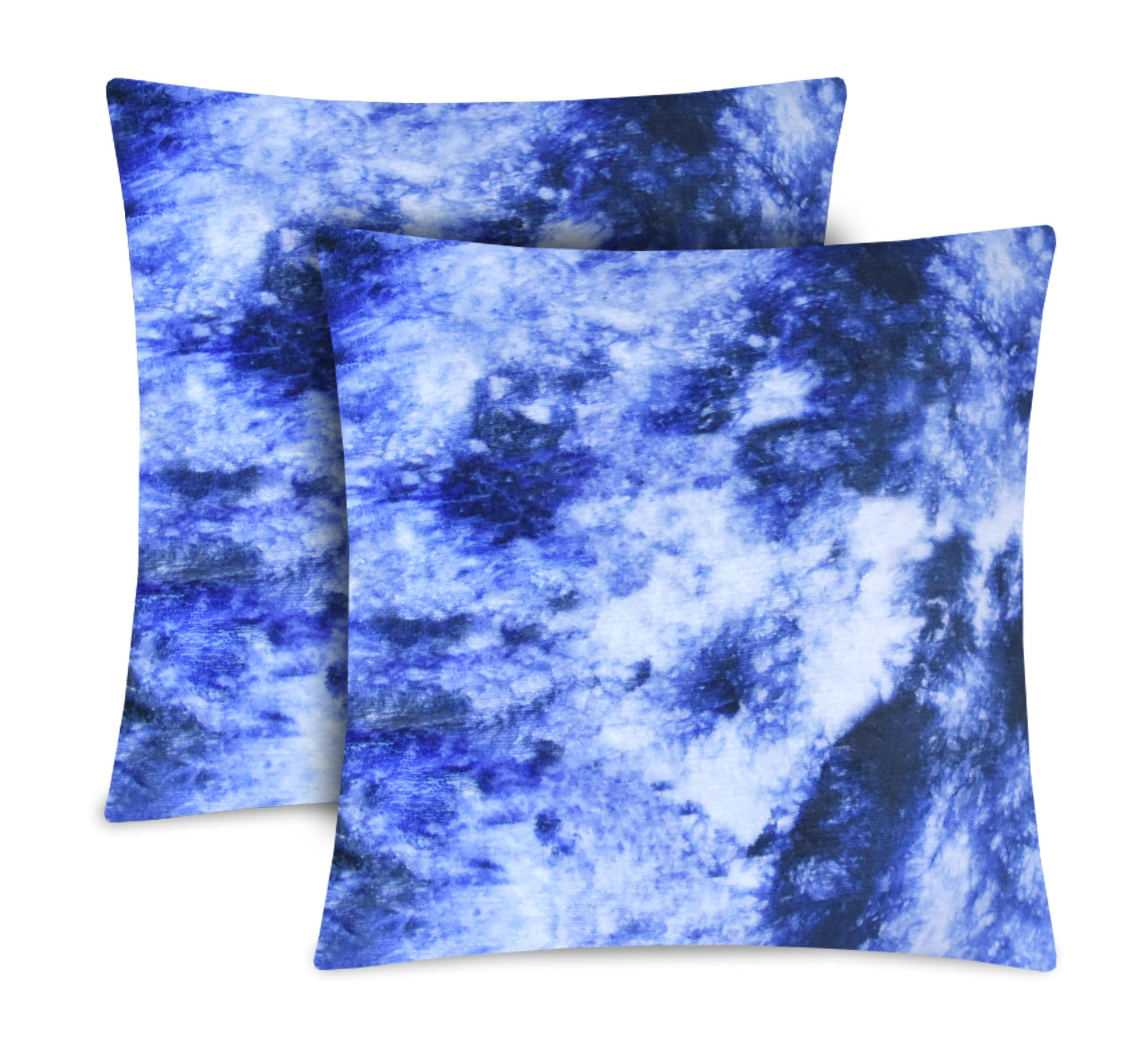 Mainstays Acid Wash Decorative Pillow, Set of 2, Blue, Multiple Colors