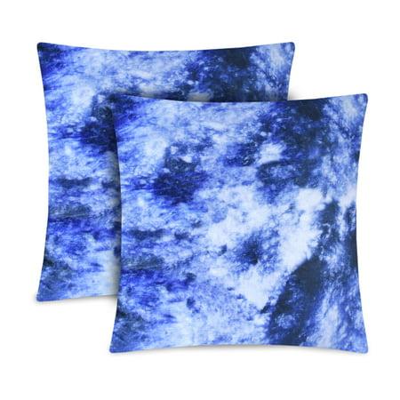 Mainstays Acid Wash Decorative Pillow Set Of 2 Blue Multiple Colors