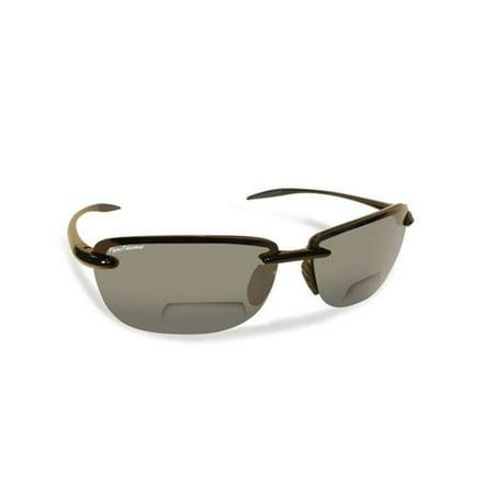 Cali Polarized Sunglasses, Black Frames With Smoke Reader Plus 2.50 (Cali Sunglasses)