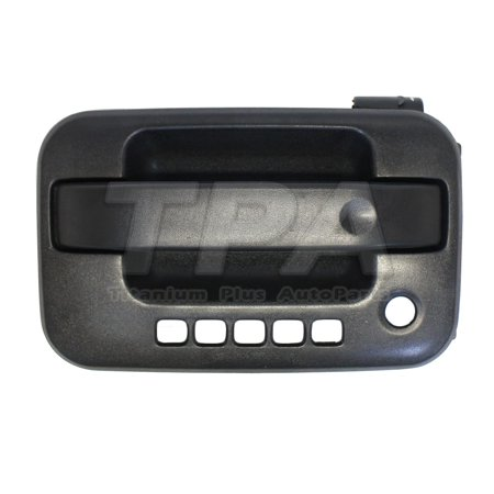 2004,2005,2006,2007,2008,2009,2010,2011,2012,2013,2014 Ford F-150 Front,Left DOOR OUTER HANDLE TEXTURE PLASTIC BLACK WITH KEYLESS ENTRY,WITH KEYPAD HOLE