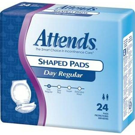 Attends Shaped Pads   Super   72 Each   Case
