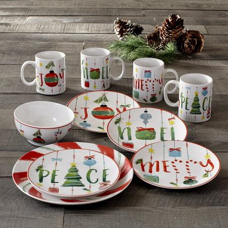 Ornaments 16 Piece Dinnerware Set