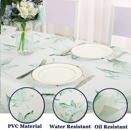 "Tablecloth PVC Oil Stain Resistant Wedding Camping Table Cloths 54"" x 55"", #3 - image 1 of 7"