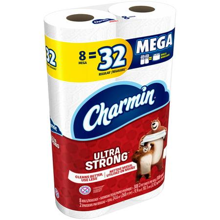 Charmin Ultra Stron Mega Rolls Toilet Paper 8 Ct Pack