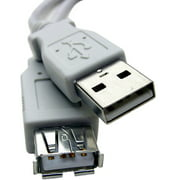 "Professional Cable 3' USB Extension, Fully-Rated 24 AWG ""A"" to ""A"" Receptacle"