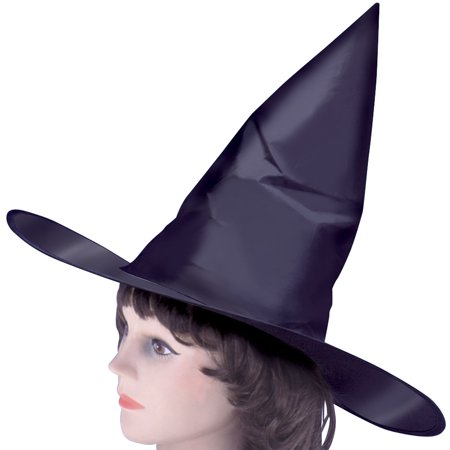Loftus Classic Tall Pointy Witch Costume Hat, Black, One Size