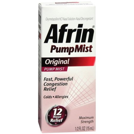 3 Pack - Afrin Pump Mist Original 15 mL