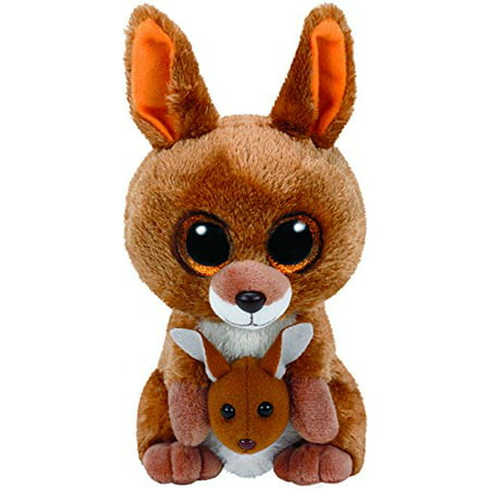 TY Beanie Boos - KIPPER The Brown Kangaroo (Glitter Eyes) Small 6