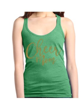 ff644f42650ca Product Image Shop4Ever Women s Cheer Mom Gold Cheerleader Racerback Tank  Top