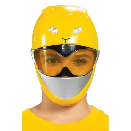 Beast Halloween Mask (Child's Power Rangers Beast Morphers Yellow Ranger Mask Costume)