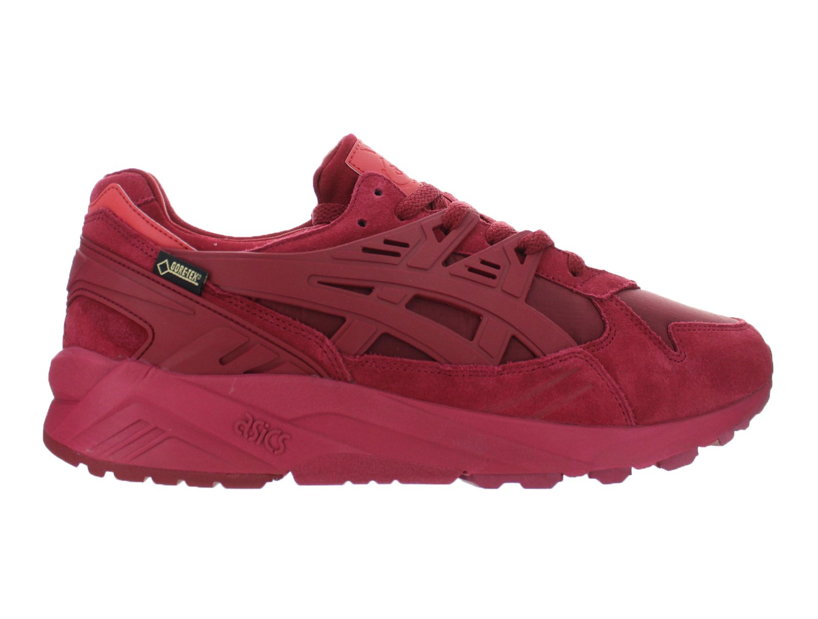 Asics Gel-Kayano Trainer Mens Burgundy Suede Athletic Lace Up Training Shoes by