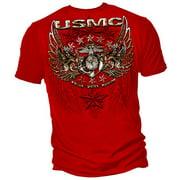 Cotton USMC Pride Duty Honor Stars Graphic T-Shirt