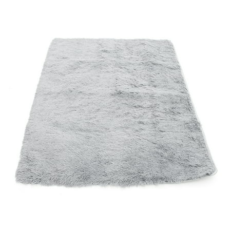23x47'' Inch Anti-Skid Shaggy Fluffy Area Rug Bedroom Carpet Floor Mat Kid Playmat Yoga For Home Decor 160x120cm ()