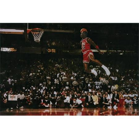 Hot Stuff Enterprise Z134-24x36-NA Michael Jordan Dunk Poster, 24 x