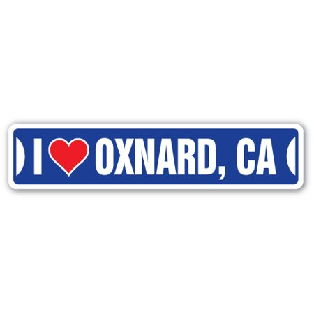 I LOVE OXNARD, CALIFORNIA Street Sign ca city state us wall road décor gift