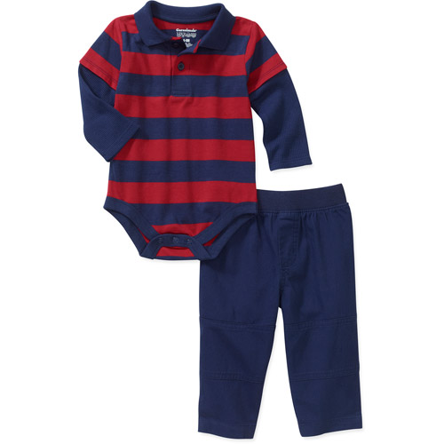 Garanimals Newborn Boys' 2 Piece Polo Cr