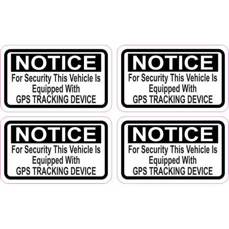 2 5in x 1 5in Vehicle Equipped with GPS Tracking Stickers