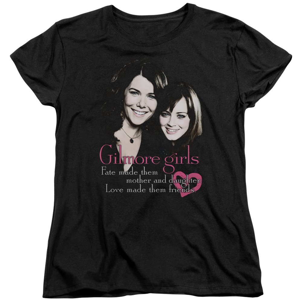 Gilmore Girls Comedy Drama TV Series WB Title Fate Love Women's T-Shirt Tee by