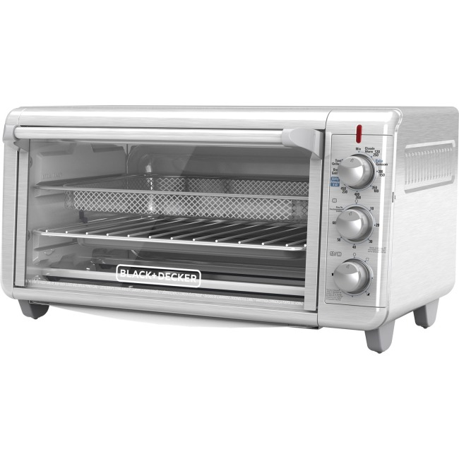 Black & Decker Extra Wide Crisp 'N Bake Air Fry Toaster Oven 1500 W Toast, Convection, Bake, Broil, Keep Warm,... by Black & Decker