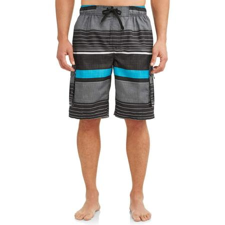 Kanu Surf Men's Viper Print Long Trunk (Shocking Mens Swimwear)