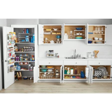 Mainstays Folding White Wire Shelf - Kitchen, Pantry Organizer - White Wire