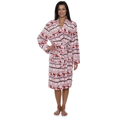 Intimo Women's Reindeer Holiday Robe - image 4 de 6