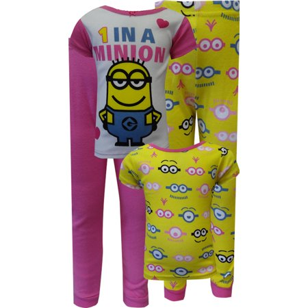 Despicable Me 2 One In A Minion 4 Piece Pajamas
