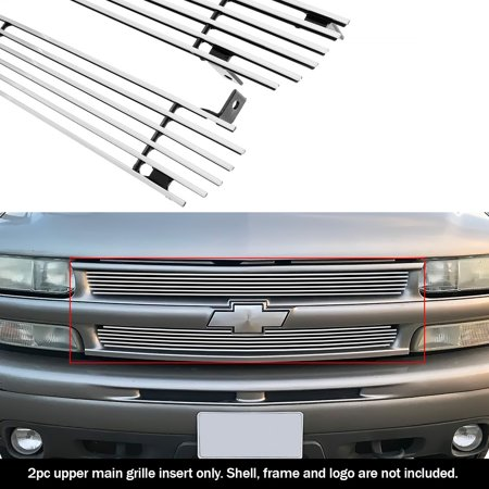 Compatible with Chevy Silverado 1500 Tahoe Suburban Main Upper Billet Grille Grill N19-A86058C