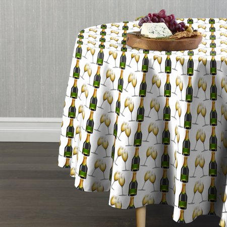 Fabric Textile Products Champagne & Flutes Tablecloth 90