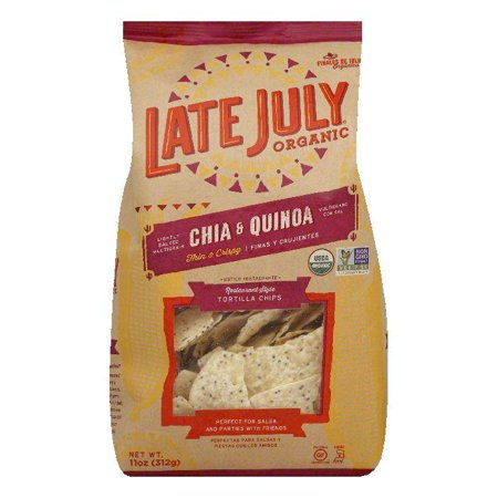 Late July Organic Chia & Quinoa Restaurant Style Tortilla Chips, 11 Oz (Pack of - Simply Organic Organic Chips
