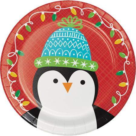 Friends of Santa Penguin Paper 8 Ct 6.75