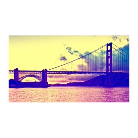 Sunset - Golden Gate Bridge - San Francisco - California - United States Print Wall Art By Philippe Hugonnard