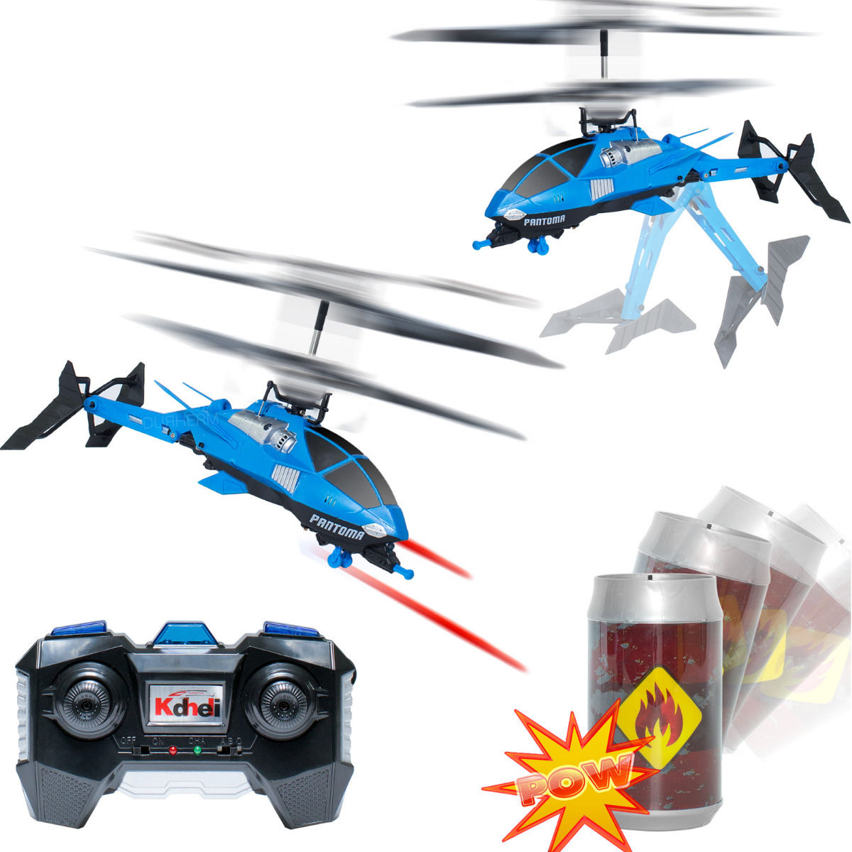 3.5ch Shooting Fighting Infrared battle Tail Folding RC Helicopter Toy w/ Gyro