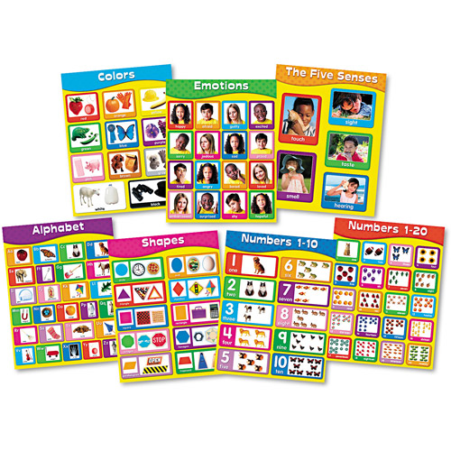 Carson-Dellosa Publishing Chartlet Set, Early Learning