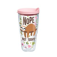 Sloth Nope Not Today 24 oz Tumbler with lid