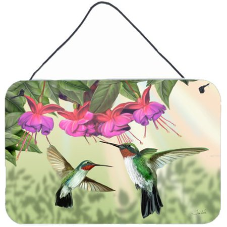 Caroline's Treasures Fuchsia and Hummingbirds by Tom Wood Graphic Art Plaque