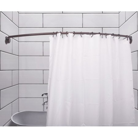 Utopia Alley Rustproof 72 Adjule Curved Fixed Shower Curtain Rod