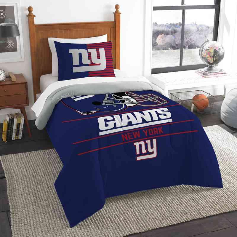 "NFL New York Giants ""Draft"" Bedding Comforter Set"