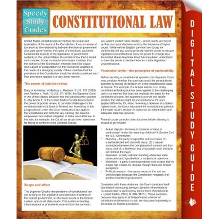 Constitutional Law (Speedy Study Guides) - (Constitutional Guide)